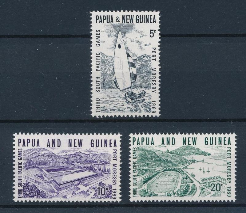 [43127] Papua New Guinea 1969 Sports South Pacific games Sailing Swimming MNH
