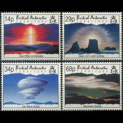 BR.ANTARCTIC TERR. 1992 - Scott# 198-201 Clouds Set of 4 NH