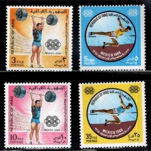 IRAQ Scott 500-503 Mexico Olympic stamp set MNH**