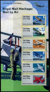 HERRICKSTAMP GREAT BRITAIN NEW ISSUE Royal Mail Heritage - Mail by Air Post & Go