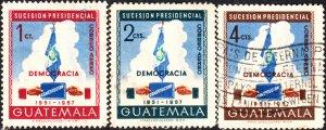 Guatemala #C185-C187   Used Set