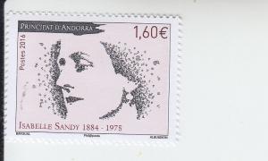 2016 Fr Andorra - Isabelle Sandy - Writer (Scott 765) MNH