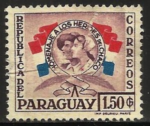 Paraguay 1958 Scott# 518 Used or MNG (crease)
