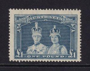 AUSTRALIA 1938 £1 Robes Thin Paper MUH