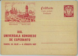 94180 - GERMANY Danzig - POSTAL STATIONERY CARDS # P39/40 - Esperanto LIGHTHOUSE