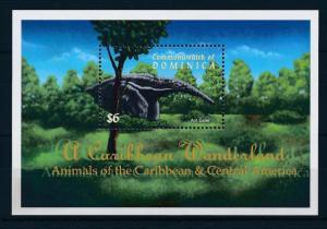 [29737] Dominica 2001 Wild Animals Mammal Anteater MNH Sheet