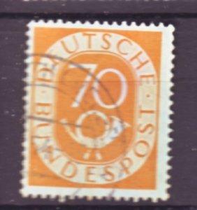 J22451 Jlstamps 1951-2 germany hv of set used #683 posthorn