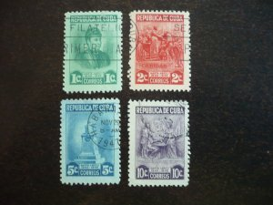 Stamps - Cuba - Scott# 410-413 - Used Set of 4 Stamps