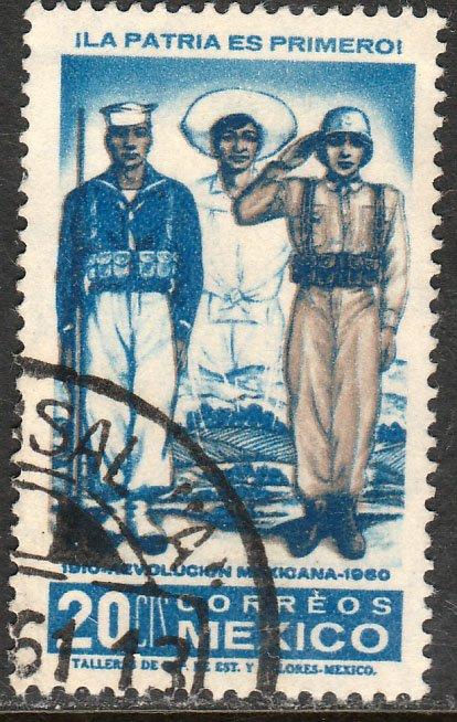 MEXICO 915, 20c 50th Anniv Mexican Revolution. Used. F-VF. (1133)