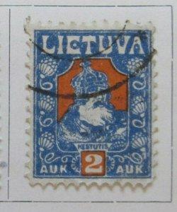 A11P5F21 Litauen Lituanie Lithuania 1921-22 2auk Used