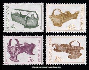 Yugoslavia Scott 1691-1694 Mint never hinged.