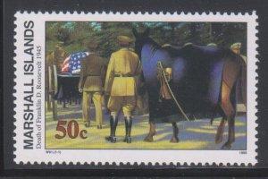 Marshall Islands, 50c Death of Franklin D. Roosevelt (SC# 509) MNH