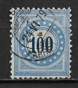 1878-80 Switzerland J8  100c Postage Due used