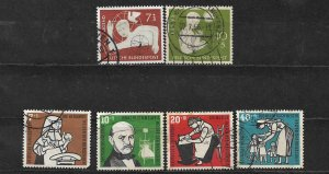 COLLECTION LOT OF 6 GERMANY  SEMI POSTAL 1956 STAMPS CV + $29