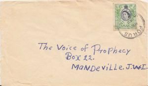 Jamaica 1d QEII Sugar Cane 1960 Porus, Jamaica to Mandeville.