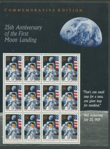 25th Anniversary of 1st Moon Landing Scott Catalog Number 2841 Unused Never Hing