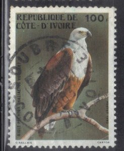 IVORY COAST  SC #680   1983  100f  BIRD  SEE SCAN