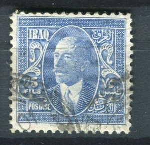IRAQ; 1932 early Faisal issue fine used 75f. value