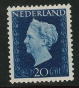 Netherlands Scott 292 MH* 20c Queen Wilhemina 1947-48