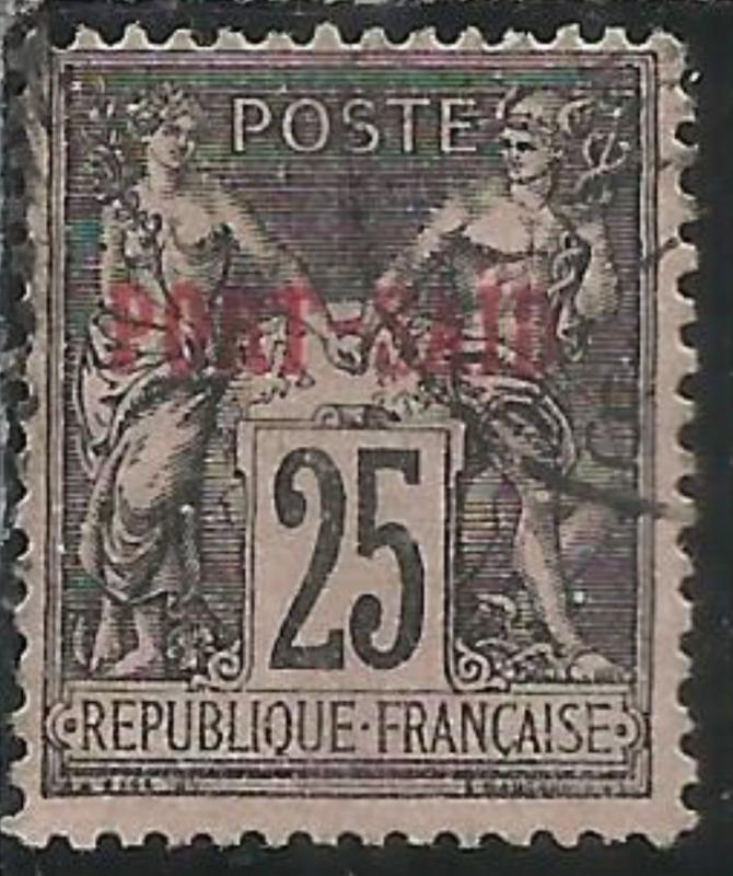 PORT SAID 1899 1900 NAVIGATION AND COMMERCE CENT. 25 USATO USED OBLITERE'