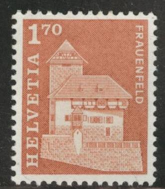 Switzerland Scott 451 MNH** 1.70 fr 1966 stamp CV$2.50