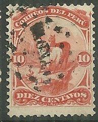 1866-6 Peru #17  10c Llamas used