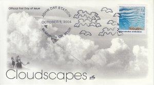 2004 Altocumulus undulatus Cloudscapes  (Scott 3878h) Artcraft Clouds Pre-FDC