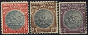 BAHAMAS 1930 300TH ANNIVERSARY 1D 3D AND 5D USED