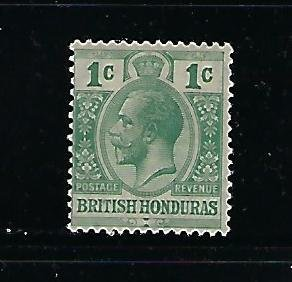 BRITISH HONDURAS SCOTT #91 1921 GEORGE V 1C- WMK 4-  MINT  LIGHT HINGED