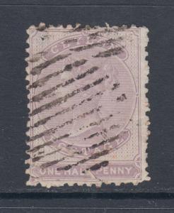 Ceylon SG 18 used 1864 ½p dull mauve Queen Victoria, spacefiller
