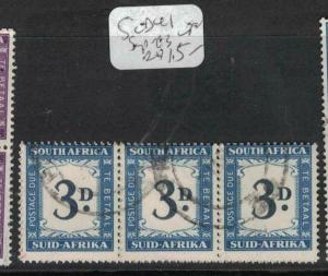 South Africa Postage Due SG D41 Strip of Three VFU (1duv)