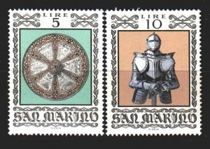 San Marino. 1974. 1059-60. Middle Ages, knights, weapons. MNH.
