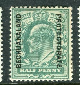 BECHUANALAND; 1904 early Ed VII issue fine Mint hinged Shade of 1/2d. value