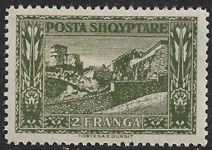 ALBANIA 1923 2fr DURSIT Pictorial Sc 153 MNH