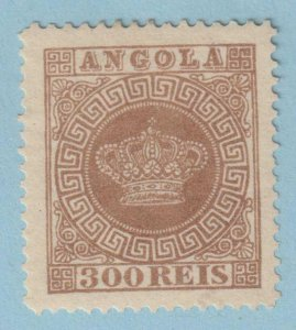 ANGOLA 9a  MINT HINGED OG * PERFORATED 12.5 - NO FAULTS EXTRA FINE !