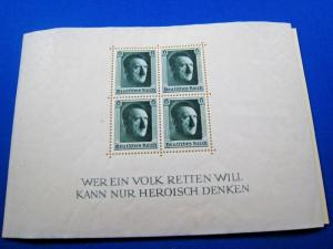 GERMANY  -  SCOTT # B102  -  HITLER S/S  -  MNH