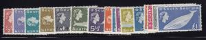 S. Georgia Scott # 1 - 16 set VF OG never hinged nice color cv $ 275 ! see pic !
