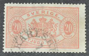 DYNAMITE Stamps: Sweden Scott #O19 – USED
