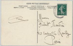 58900 - FRANCE - POSTAL HISTORY: FRENCH stamp on POSTCARD from LIBYA 1909