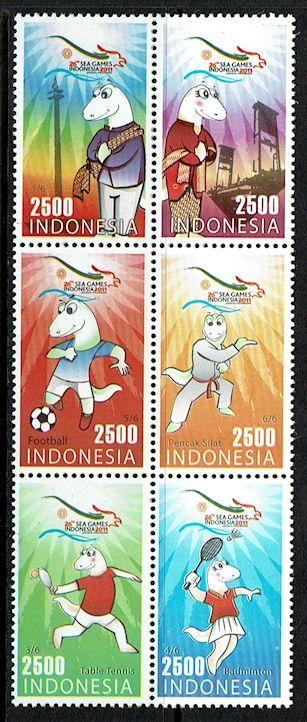 Indonesia 2299 MNH (2011) 26th Sea Games - Sports - Soccer - Martial Arts