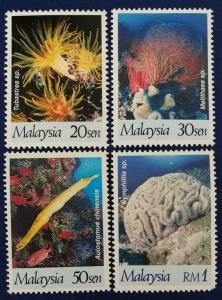 Malaysia Scott # 632-5 Corals Stamps Set MNH