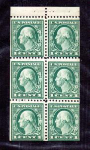 498c Booklet Pane Mint NH