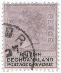 (I.B) British Bechuanaland Revenue : Duty Stamp 6d