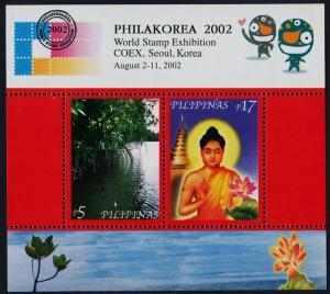 Philippines 2794 MNH Buddha, Temple, Flower, Mangrove, Philakorea