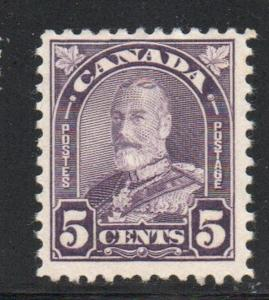 Canada Sc 169 1930 5c dull violet George V Arch issue stamp mint