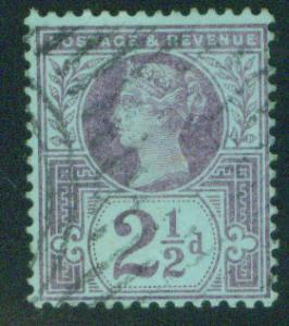 Great Britain Scott 114, Victoria CV$3.50 1887