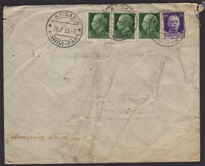 Italy 1933 Ship letter