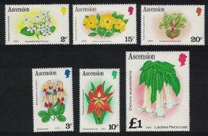 Ascension Flowers 6v Imprint '192' 1982 MNH SG#283B-295B