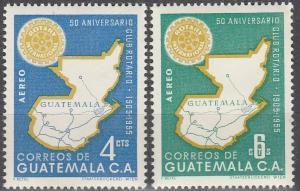 Guatemala #C207-8 MNH F-VF  (SU3558)