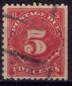 US Scott #J64 Used CARMINE 5 cent Very Fine